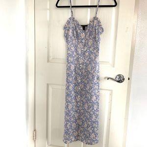 A long floral dress